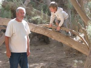 Alex checks out the kids playground