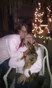 Kim, Angeline & Lucy the dog