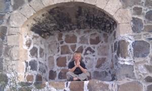 Anders prays in a 'window'