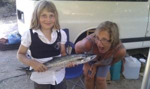 mom bites the fish