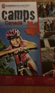 on the back of the door which really surprised me because its about camps in Canada