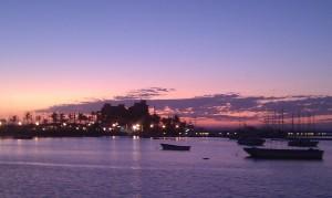 La Paz at sunset