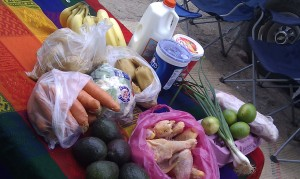 < $46 of groceries