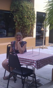 Danaka, before we rearranged the tables to sit together