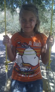 Tov on our new swing
