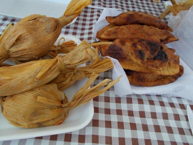 tamales and empanadas