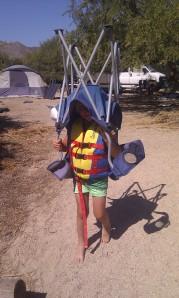 The way Laars carries a beach chair