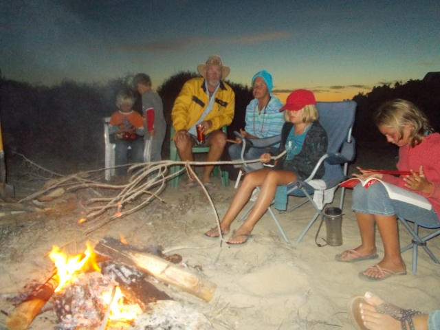 campfire with Wayne