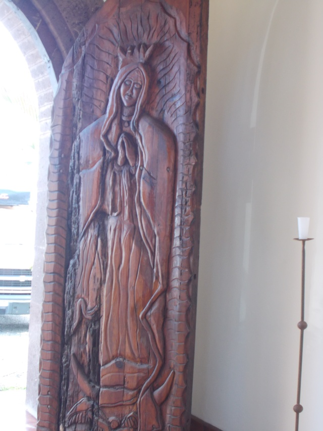 Carved tall front doors