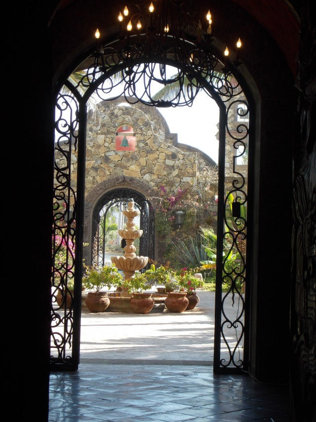 Viewing the courtyard thru the front gates