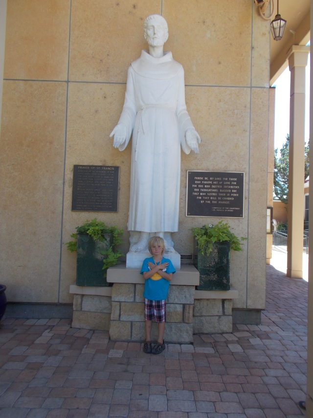 Laars hanging out with St Francis of Assisi