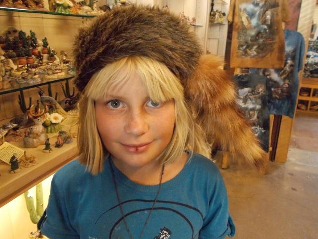 Gaelyn with a Davey Crocket hat
