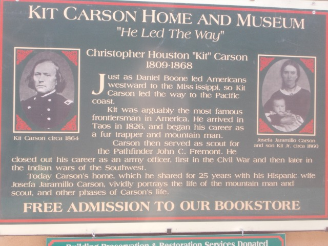 I admit I don't know much about Kit Carson but I ought to start learning, I suppose.