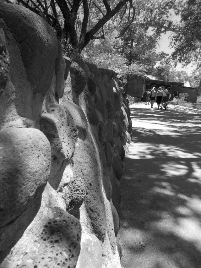 stone wall b:w