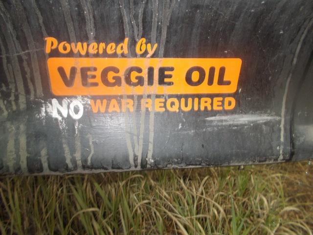 Powered by Veggie Oil No War Required (bumper sticker)