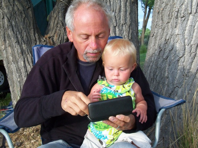 Helping Grampa find his reading glasses