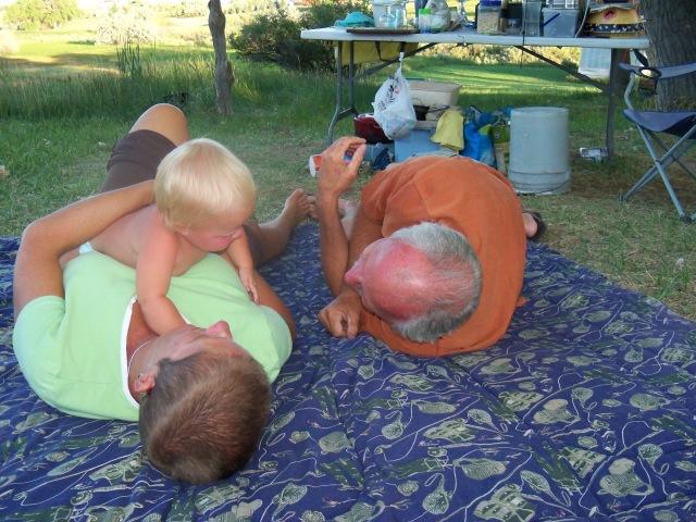 Playing with Grandma and Grandpa