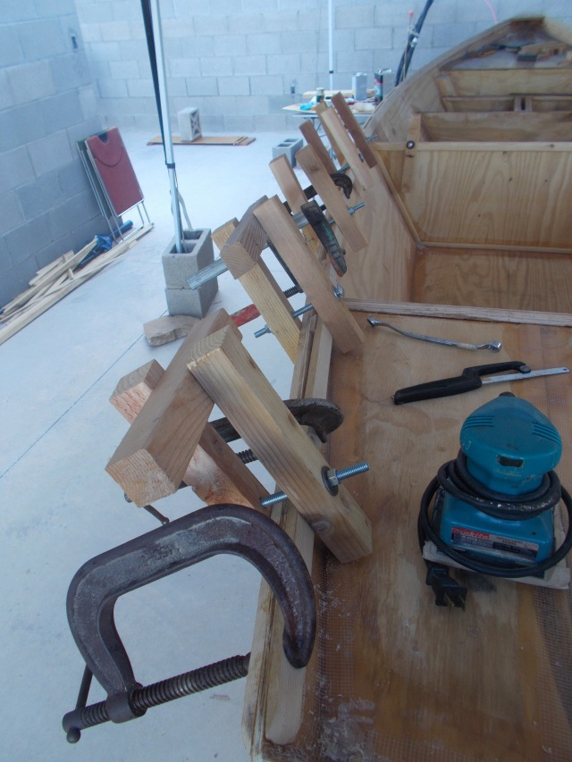 clamped on each side