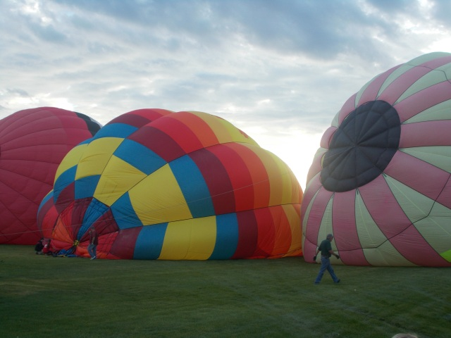 half inflated