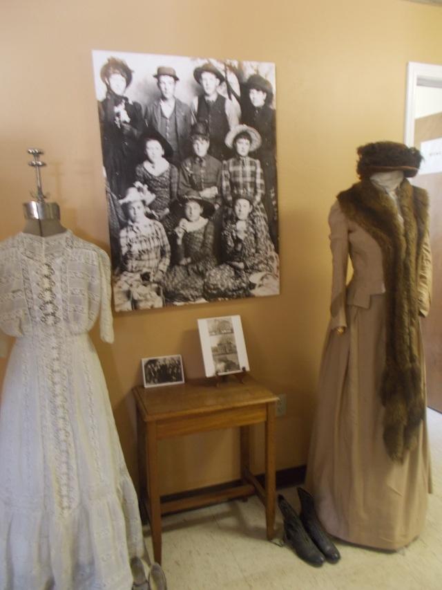 wedding dress on right