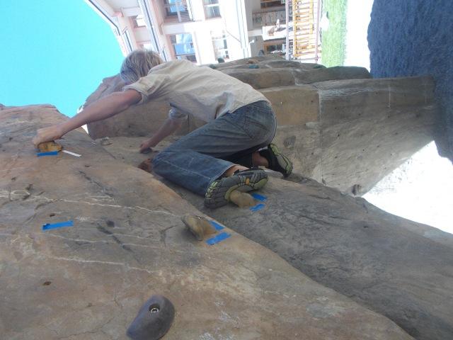 Mitchell climbing