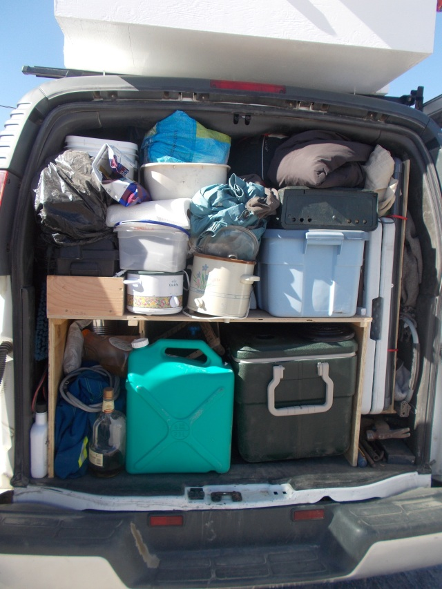 back of van packed