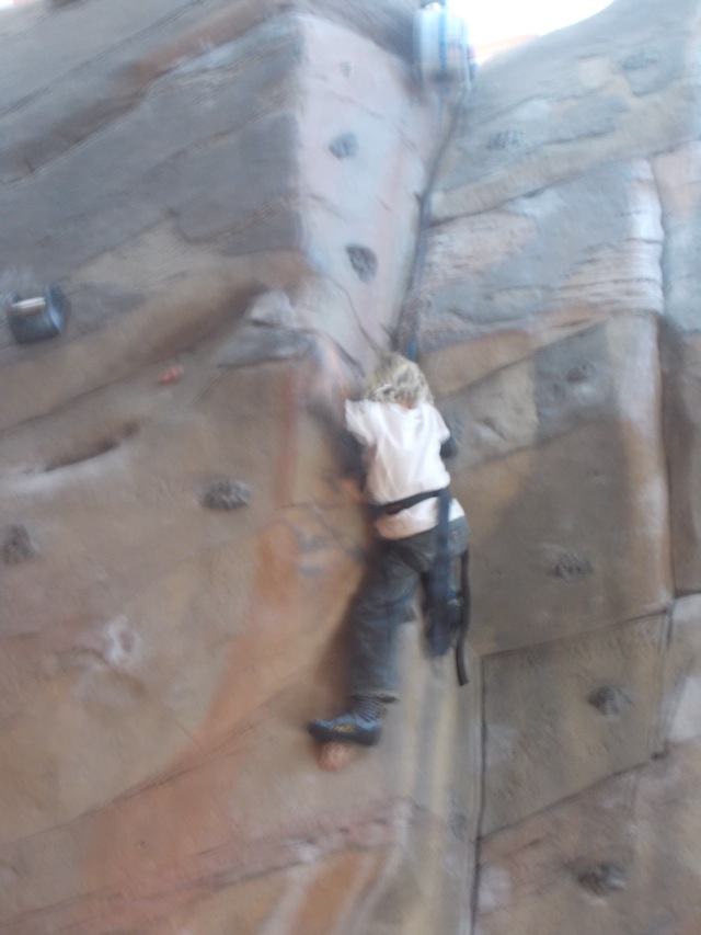 Anders thrives on climbing and has since he was a toddler.