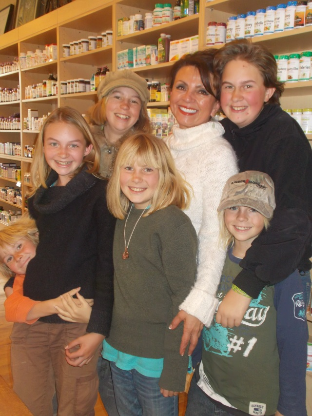 Dyanna and the kids.  She loves kids.  Three of ours became her clients.