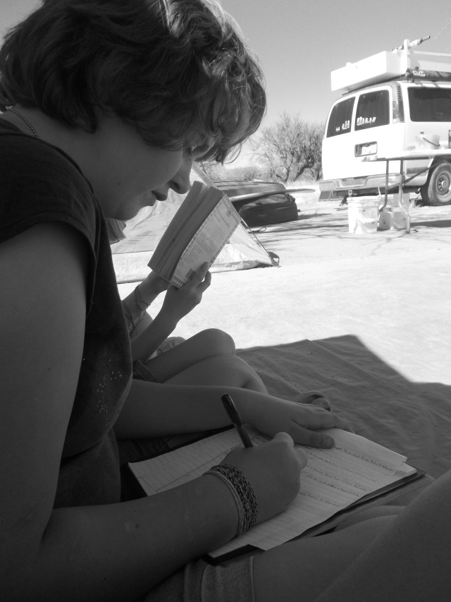 Danaka writing.  What else would she be doing?