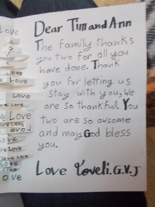 Dear Tim & Ann