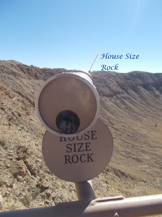 A Rock the size of a small house.