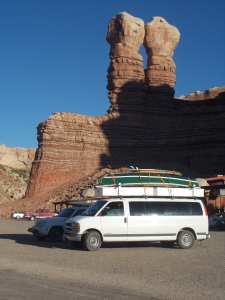 Our van at the Twin Rocks Cafe