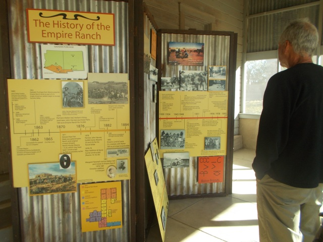 Display of timeline of the Empire Ranch
