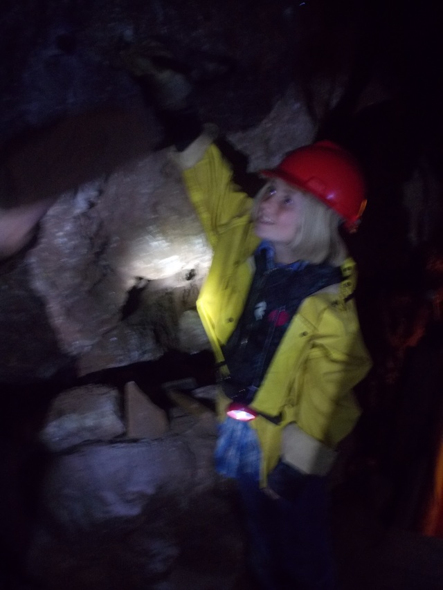 Pictures were difficult to take in the mine.  But the kids got involved, got their hands on-the-job training.  Gaelyn was holding a spike that would be hit by a partner with a huge hammer, then she would have to give it a 1/4 turn.