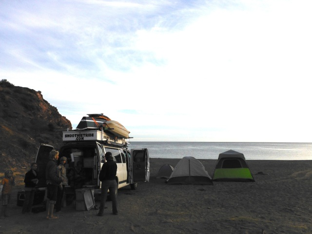 Our camp at Playa Piedras Pintas