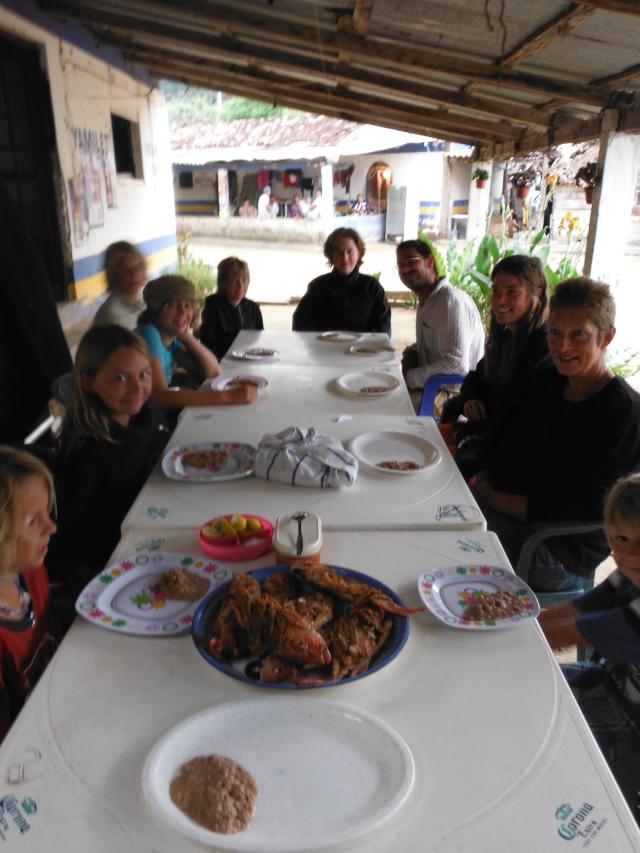 Our Christmas Eve dinner table