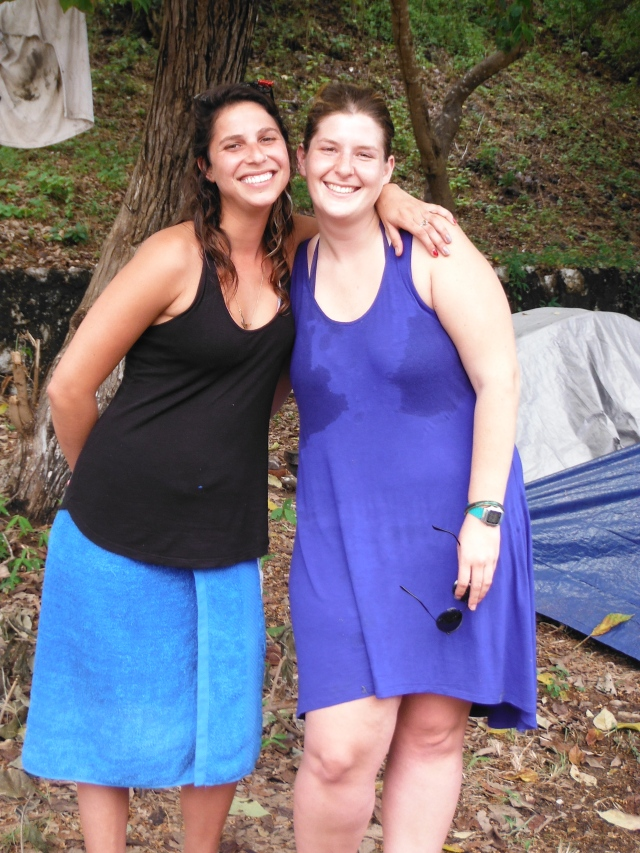 Andy & Eleanor from South Africa but who live now in Tel Aviv.  They are currently traveling Mexico, Guatamela & Belize until money runs out.  Wonderful women, wish we had more time to connect.