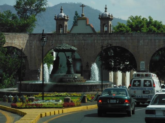 The aqueduct.