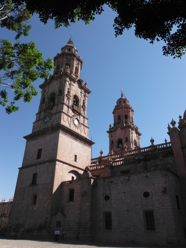 Just one of many cathedrals in Morelia.  Wonderful colonial architecture.
