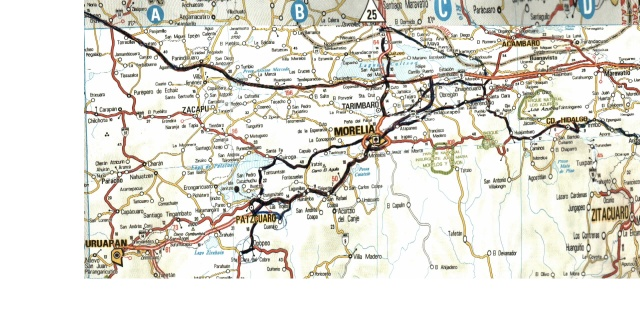 Map around Morelia