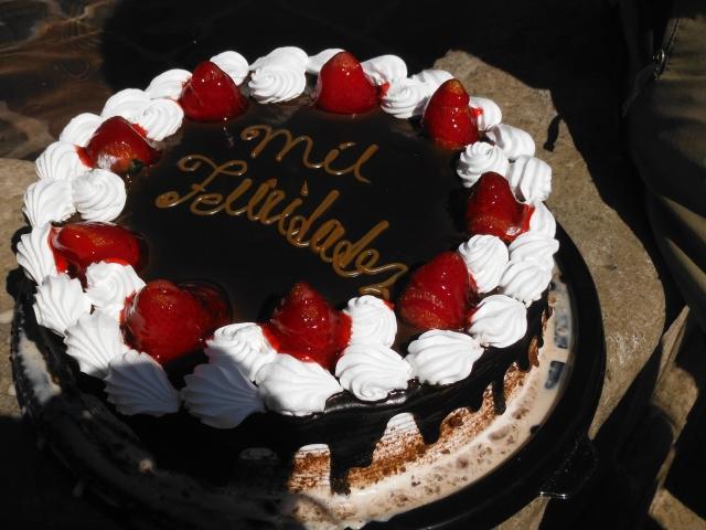 Celebratory Cake for Karen's 49th Birthday