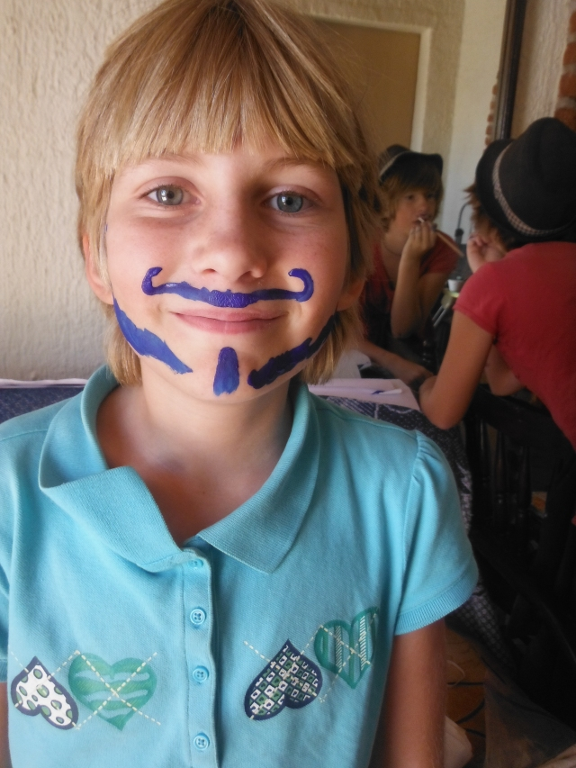 Gaelyn's silly moustache