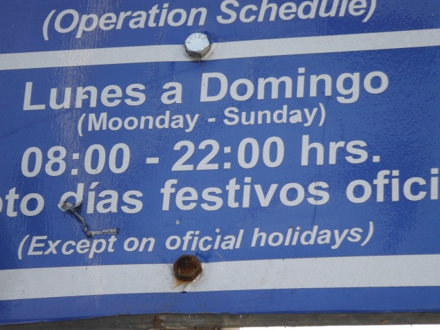 Notice, you need to pay for street parking Moonday to Sunday!