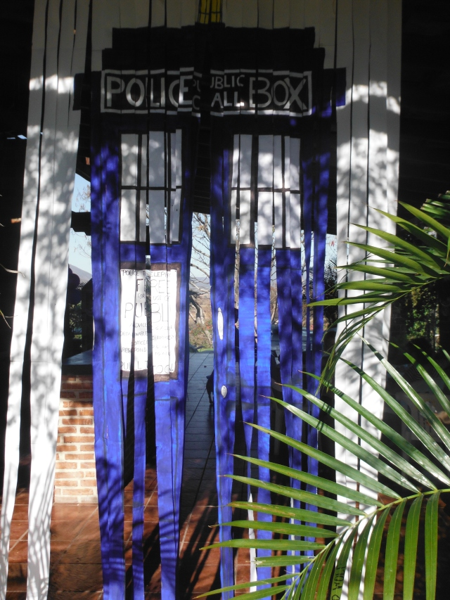 Entrance to the party, you have to walk thru the TARDIS
