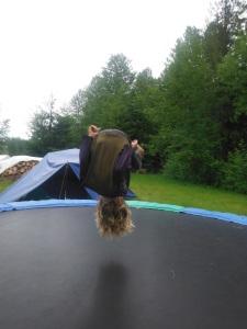 Anders on trampoline forward flip