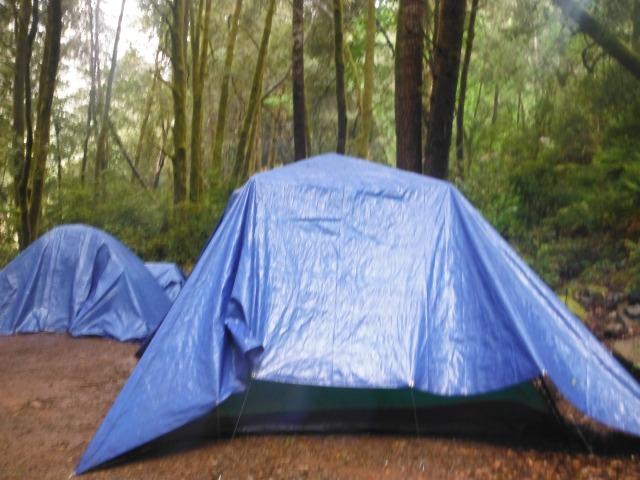 Camping in the rain.  Such fun!!!