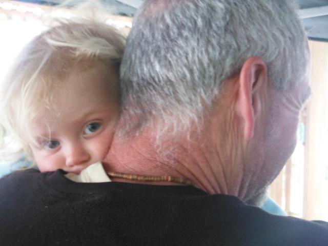 Grampa's first snuggles