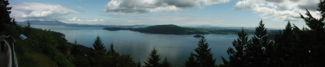 Panoramic view towards Sidney, BC