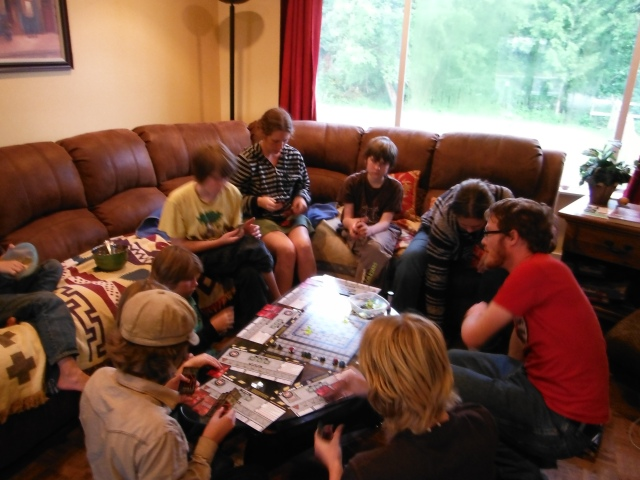 Robo Rally in the living room