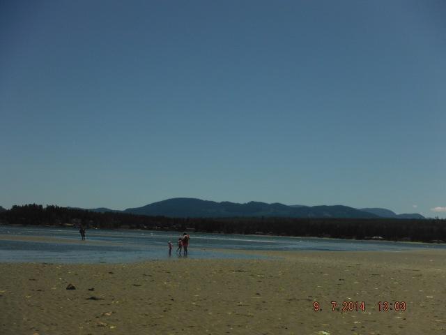 Rathtrevor Beach, not a swimmer's paradise.